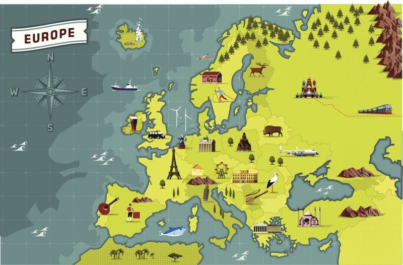 1-An Illustrated map of Europe
